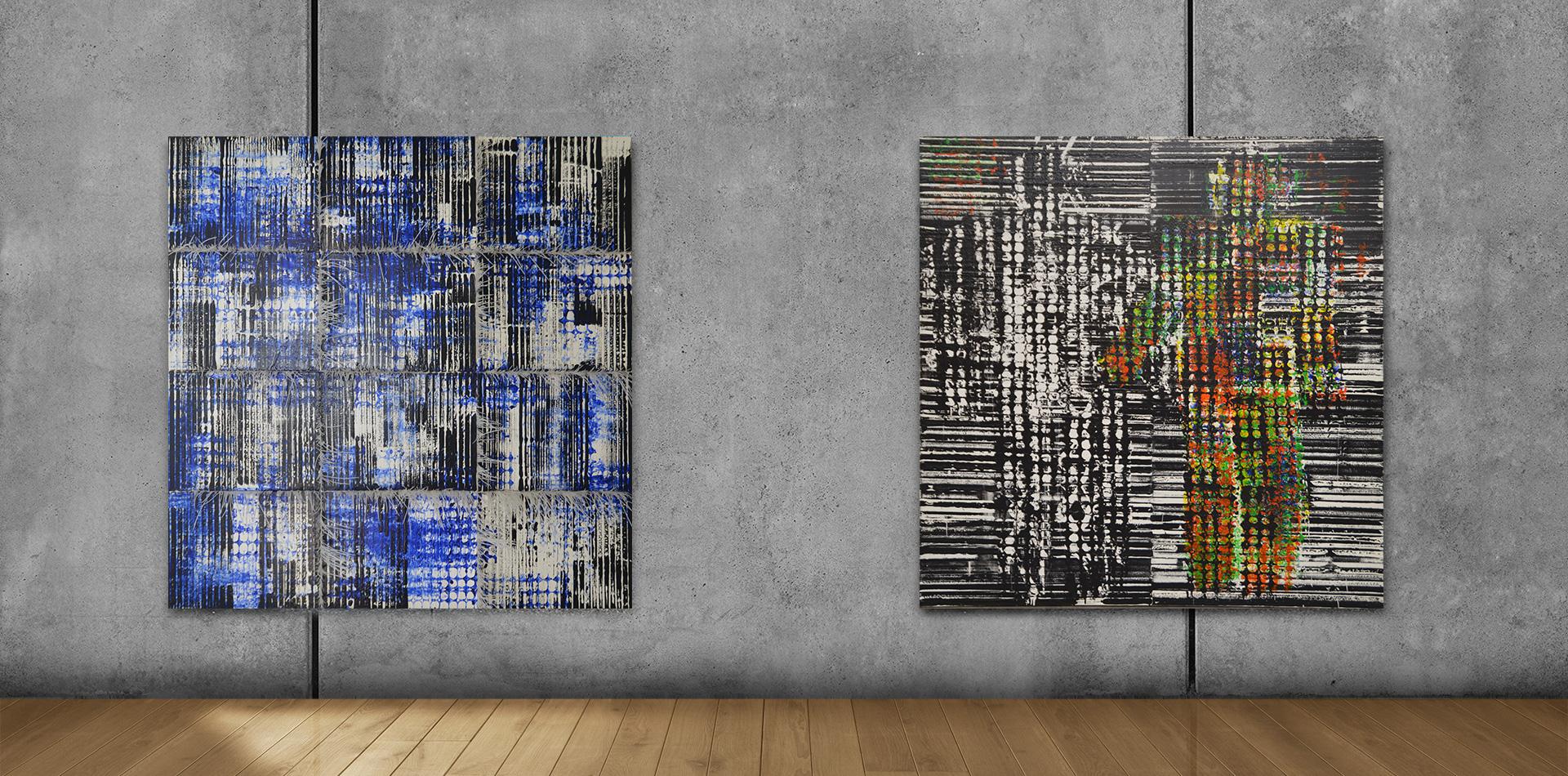 Line Art / Ich und Ich (200x200cm)